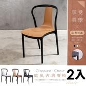 【家具+】2入 Mathew 馬修古典歐風造型靠背餐椅/休閒椅/戶外白色-2