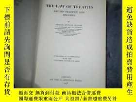 二手書博民逛書店THE罕見LAW OF TREATIES(民國英文原版書 精裝