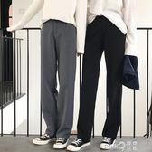 闊腿褲女春夏季高腰拖地褲工裝西裝褲寬鬆大碼休閒直筒褲女長褲子 【PINKQ】