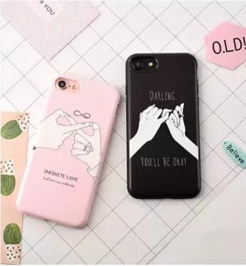 【SZ15】手指拉鉤約定全包軟殼 iphone 8 plus手機殼 iphone 6s plus XR iphone xs max xr手機殼