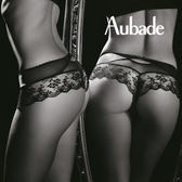 Aubade-傾慕S-L蕾絲平口褲(黑)DA