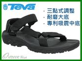 ╭OUTDOOR NICE╮美國 TEVA 男款 HURRICANE XLT 織帶運動涼鞋 黑色 4156 BLK 黑色 運動涼鞋 休閒涼鞋