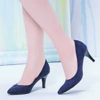 典雅素面亮麗低跟包鞋