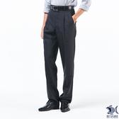 【特價款 即將斷貨】經典深黑系列 西裝褲(中高腰寬版) 002(8708) 打摺/熟男款式/斜口袋