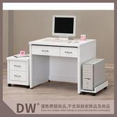 【多瓦娜】19058-632006 白色3尺書桌(全組)(含活動櫃主機架)(542+543+544)