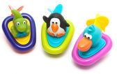 寶寶嬰兒洗澡玩具戲水拉繩發條船兒童玩水玩具拉線玩具小動物會跑全館88折