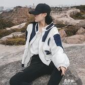 工裝牛仔外套女年新款bf白色拼接韓版寬鬆ins潮短款棒球服秋 易家樂