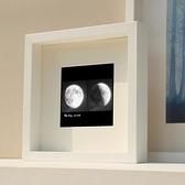 創意簡約紀念日立體中空相框手腳印衍紙干花蝴蝶標本moon月球畫框 艾瑞斯