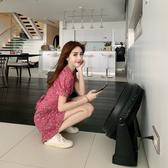 超殺出清 韓國風復古小清新碎花森系短袖洋裝