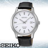 SEIKO 精工手錶專賣店 SGEH43P1 男錶 石英 不鏽鋼錶帶 白色錶盤 藍寶石水晶玻璃 防水