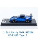 Liberty Walk 1/64 模型車 NISSAN 裕隆 GT-R R35 Type 2 IP640013GTR 金屬藍 加拿大版