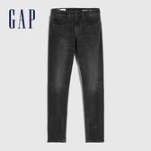 Gap男裝 時尚水洗中腰修身錐形牛仔褲 632106-基礎水洗色