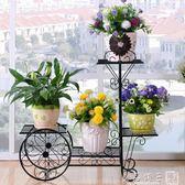 鐵藝花架綠蘿多層客廳組裝花架陽台歐式花架子室內鐵藝花架落地式igo   良品鋪子