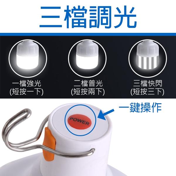 【刀鋒】BLADE USB充電三檔LED燈泡 60W 現貨 當天出貨 台灣公司貨 LED燈 應急燈 燈泡 照明