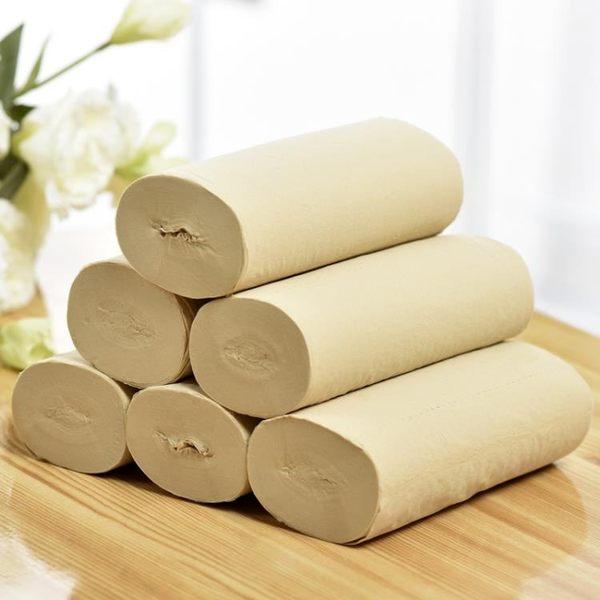 原生竹漿紙本色無芯捲紙家庭裝衛生紙手紙