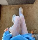 性感蕾絲打底襪漁網長襪美腿襪外穿連腳鏤空襪子【橘社小鎮】