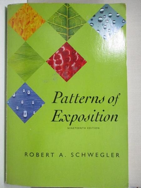 【書寶二手書T8/原文小說_DYJ】Patterns of Exposition_Schwegler, Robert A.