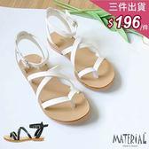 涼鞋 夾腳交叉繞踝涼鞋 MA女鞋 T6007