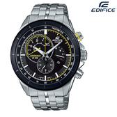 EDIFICE CASIO卡西歐 視距儀 三眼多功能 計時碼錶 男錶 日期顯示 不銹鋼 鐵帶 EFR-561DB-1A