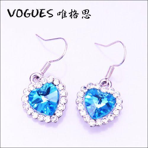 堅石璀璨水晶耳環 (5色) B009   情人節禮物【Vogues唯格思】