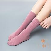 5雙裝 加厚堆堆襪子女秋冬中筒襪長筒襪可愛彩色【橘社小鎮】