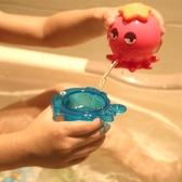寶寶兒童洗澡玩具戲水游泳嬰兒玩具小烏龜玩沙沐浴噴水海豚疊疊樂