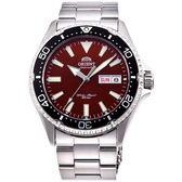 【台南 時代鐘錶 ORIENT】東方錶 RA-AA0003R MAKO III系列兩百米潛水機械錶 紅/銀 42mm