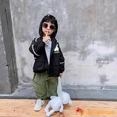 寶寶外套男童春裝小童春秋季連帽反光條上衣兒童夾克洋氣【小獅子】