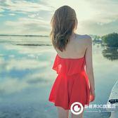 泳衣女小清新學生裙式白色仙顯瘦遮肚