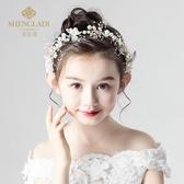 髮飾兒童頭花飾品女童花環頭飾小女孩花朵公主森女系韓國花童髮飾演出 限時特惠