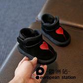 童鞋/秋冬季小寶寶鞋嬰兒軟底學步鞋0-1歲2-3男女童加絨棉鞋雪地靴「歐洲站」