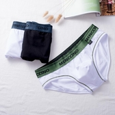 2條裝男士內褲三角褲純棉低腰U凸性感青年舒適透氣短褲頭底褲