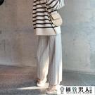 褲子女秋冬新款毛線奶奶褲顯瘦百搭休閒褲寬鬆直筒針織寬管褲【極致男人】