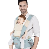 店長推薦 布兜媽媽夏四季通用透氣多功能嬰兒背帶腰凳前抱式寶寶坐凳背袋登