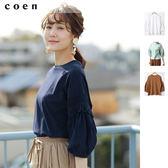 蕾絲 純棉 5分袖上衣 女T恤免運費 日本品牌【coen】