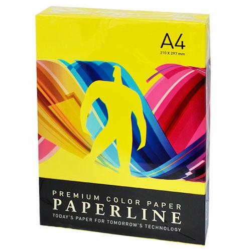 【PAPERLINE】210 80P A4 檸檬黃 進口影印紙/多功能紙 (1箱5包)