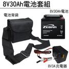 【進煌】8V30AH電池充電器套組 /斑馬電池/探照燈/電動工具 鉛酸電池(台灣製)TD8300 TD-8300