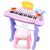 電子琴 兒童多功能電子琴男孩女孩玩具琴麥克風鋼琴寶寶玩具1-3-6歲初學igo 俏腳丫