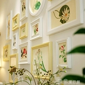 照片墻歐式實木照片墻掛墻組合創意客廳玄關餐廳裝飾相框免打孔送畫芯 獨家流行館YJT