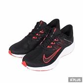 NIKE 男慢跑鞋 QUEST 3 低筒 輕量 舒適 透氣 避震 黑白紅-CD0230004