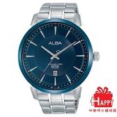 日本  ALBA雅柏錶*原廠保固一年 *廣告款  時尚放射狀錶面質感腕錶 VJ42-X237B.AS9E91X1 -銀X藍