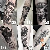 【一套8份】紋身貼防水男女持久韓國3d隱形仿真刺青性感紋身貼紙【橘社小鎮】