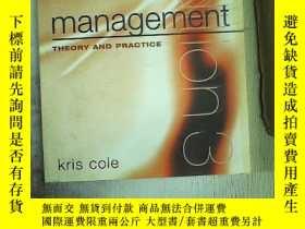 二手書博民逛書店management-THEORY罕見AND PRACTICE(