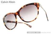 Calvin Klein 太陽眼鏡 CK4270SA 215 (琥珀) 經典LOGO簡約小貓眼款 # 金橘眼鏡