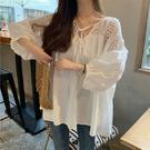 "ZUCA""S - 設計感小眾白襯衫寬鬆甜美拼接百搭娃娃衫襯衫- YY-170"