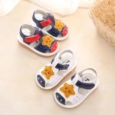 夏季涼鞋叫叫鞋 小童軟底學步鞋 女男寶寶牛筋底會響 嬰兒鞋0-2歲