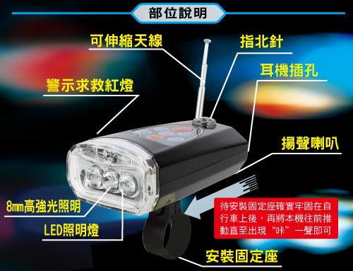 勳風多功能自行車(前燈)手電筒(HF-2106)