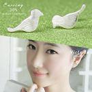S925銀 俏皮大方設計感防過敏耳環-維多利亞1605114