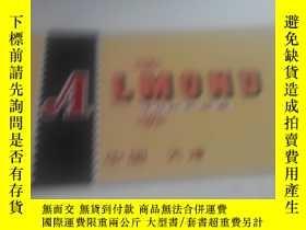 二手書博民逛書店ALMONO罕見TOFFEE 中國 天津 商標 長13.5釐米