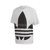 adidas 短袖T恤 Big Trefoil Boxy Tee 白 黑 男款 短T 運動休閒 【ACS】 FM9903
